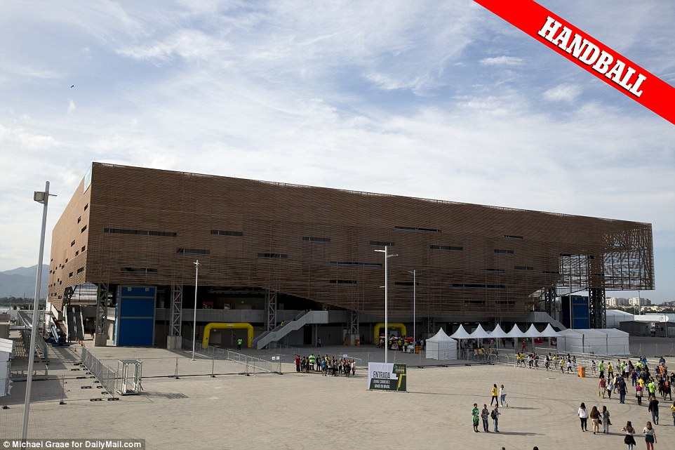 There is one: The only newly-built venue which Daily Mail Online found was complete is the Arena of the Future, where the handball will be staged. But it will be taken down after the Games are over
