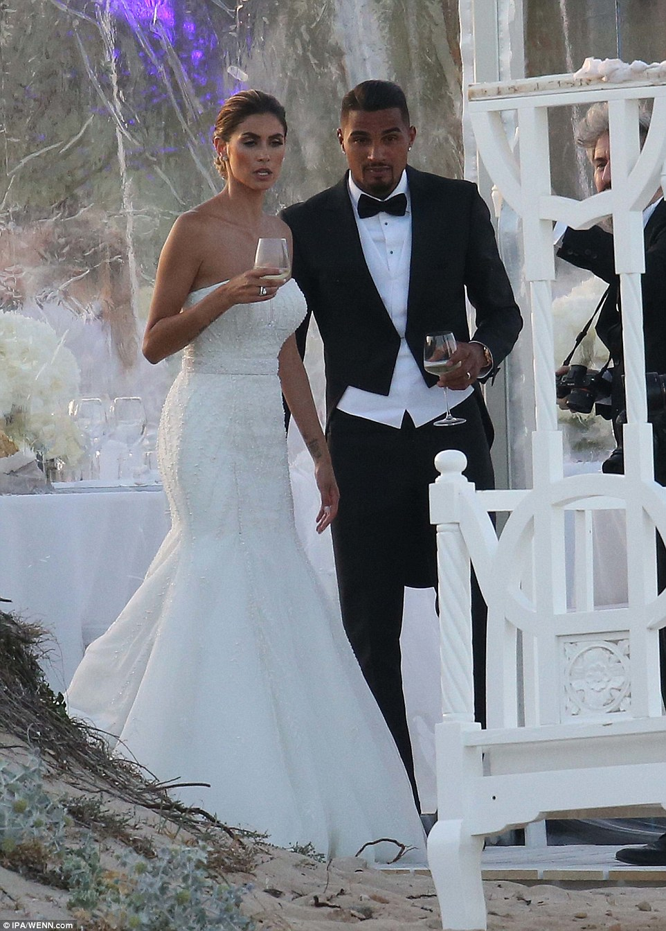 Ex AC Milan player KevinPrince Boateng maries Melissa Satta  Daily Mail Online
