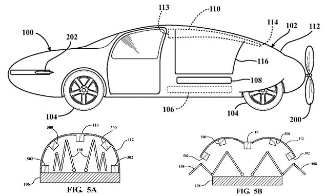 Toyota patents 'flying car' with shape-shifting skin and