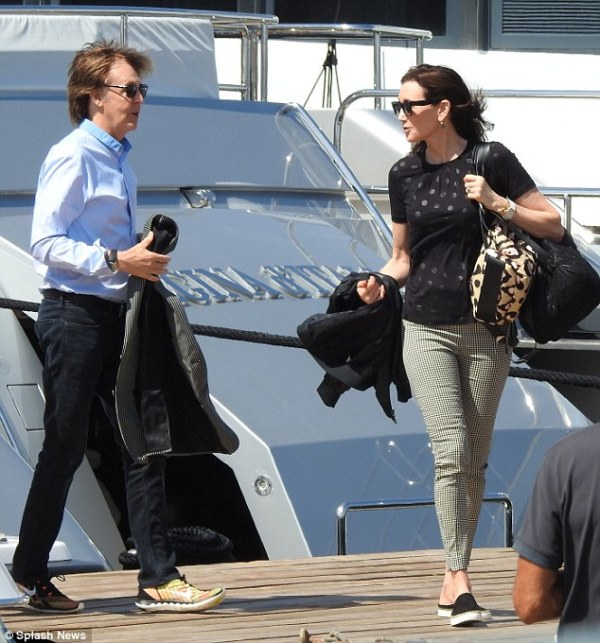 Sir Paul McCartney and wife Nancy Shevell make a stylish