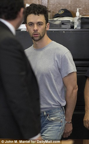 Mallory wore jeans as he was led into the courtroom at the Manhattan Criminal Court.