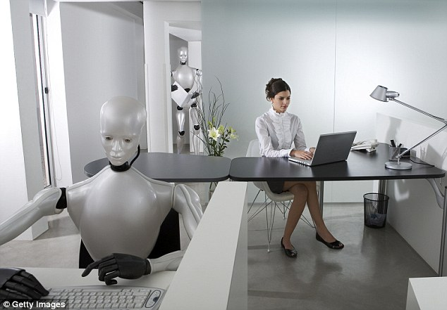 AI software which understands and answers work-related questions has been made available in the UK. Starmind uses machine learning to understand queries, then source answers from previous staff conversations on a subject or track down experts within the company who are able to help (stock image)