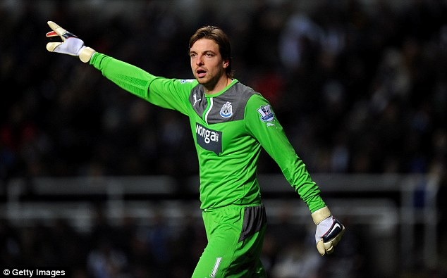 Newcastle goalkeeper Tim Krul looks set to leave the club this summer with Middlesbrough interested
