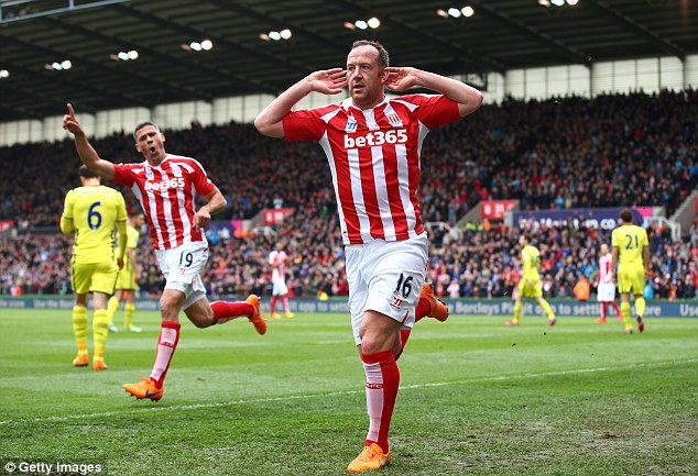 Stoke's Charlie Adam  is a target as Burnley attempt to fill Joey Barton's void after he joined Rangers