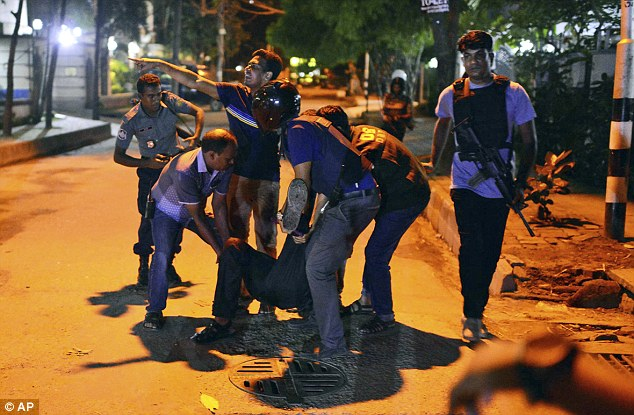 Police have stormed a restaurant after being locked in a shoot-out with gunmen at a restaurant in the diplomatic quarter of the Bangladeshi capital of Dhaka, that is popular with foreigners