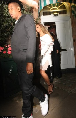 Look lively: She may have danced her heart out in front of her adoring fans earlier in the evening, but Beyoncé still looked fresh-faced and full of energy as she stepped out into the night