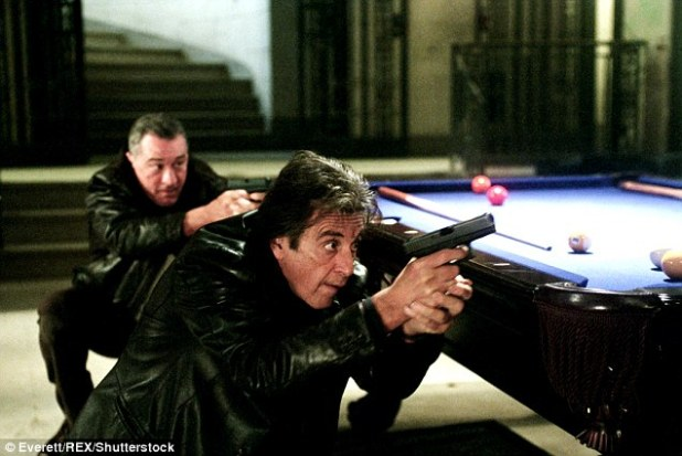Pacino (pictured in 2008 film 'Righteous Kill' alongside Robert De Niro) has three children including two with actress Beverly D'Angelo, 64, with whom he had a relationship with from 1996 until 2003