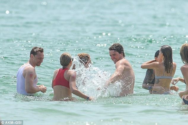 Splish splash: Of course there was some splish splashing going on