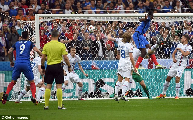 Pogba headed home France's second goal on Sunday night as they set up a semi-final clash with Germany