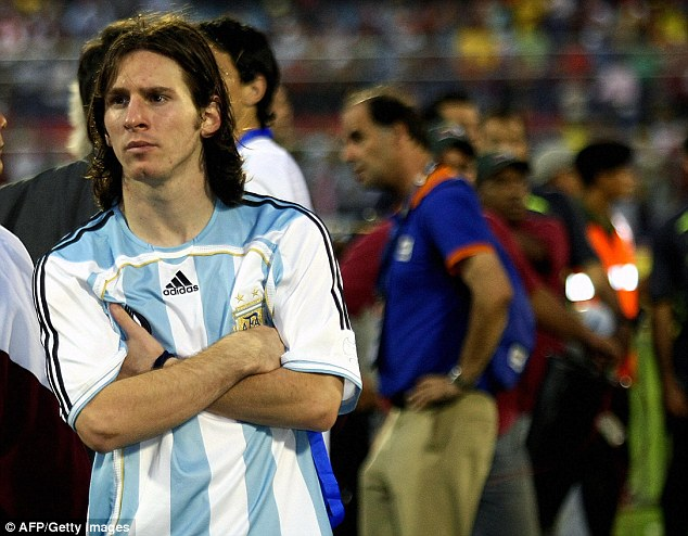 The Barcelona No 10 suffered defeat in the 2007 Copa America final, going down 3-0 to Brazil in Venezuela
