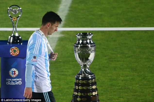 The 2016 defeat was the Messi's fourth major international tournament final loss, including the 2015 edition