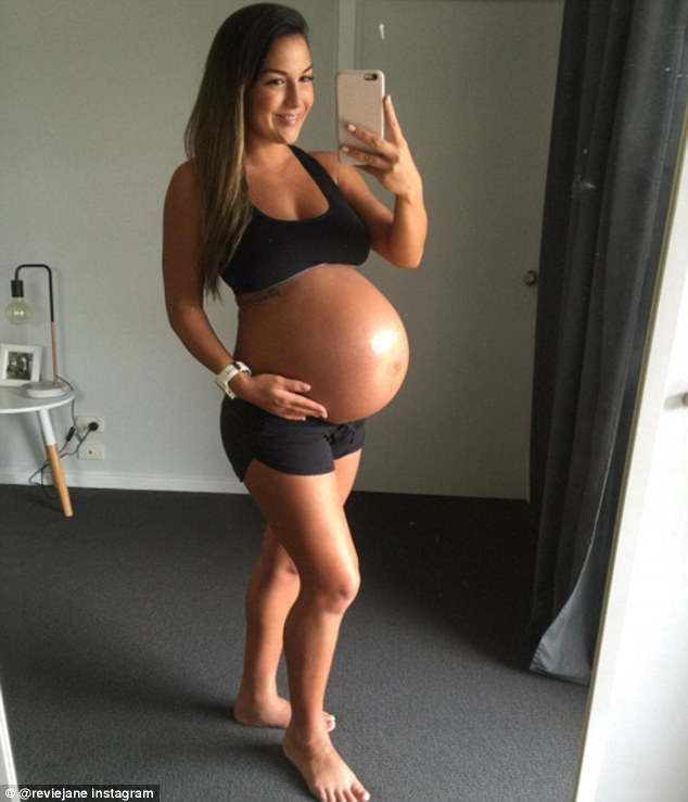 Baby on board: She said at 24 weeks pregnant she'looked like a lot of people's full term' and would receive many comments about her size