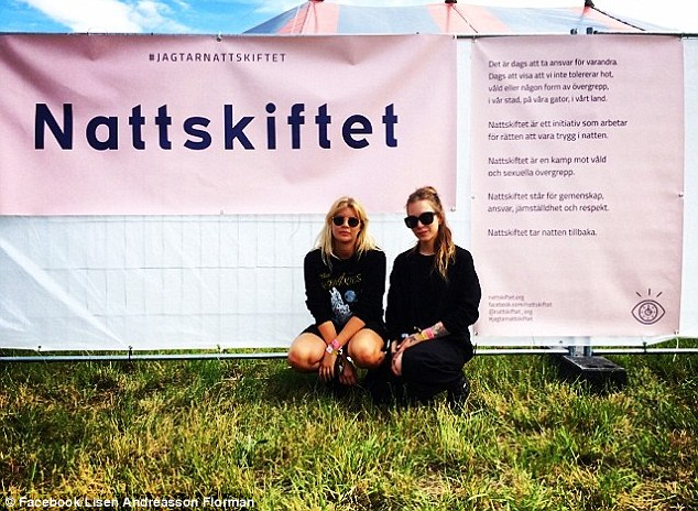 Efforts: Ms Andréasson Florman (pictured) said that she isn't take seriously enough when her organisation suggests concrete ways police could crackdown on sex attacks at festivals