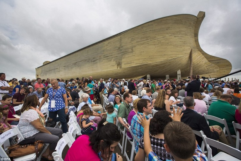 Ham says the massive ark will stand as proof that the stories of the Bible are true