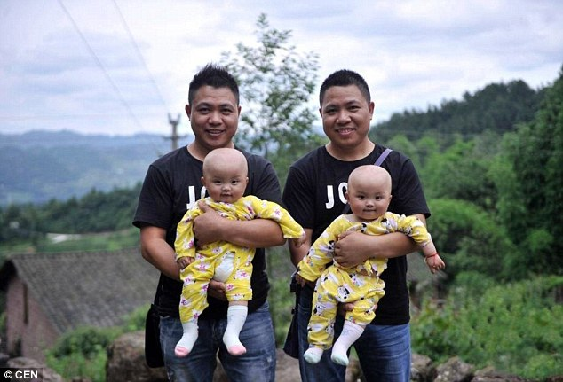 Runs in the family: Qingyuan village has many twins with the oldest pair aged 89