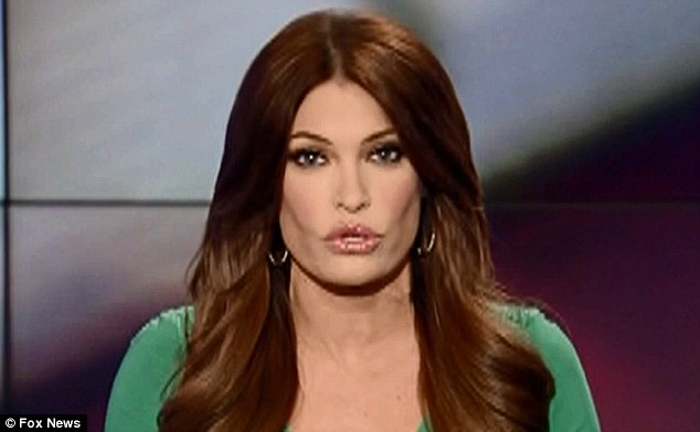 New kid on the block: Kimberly Guilfoyle hosted Carlson's show, The Real Deal, on Tuesday on Fox News (above)