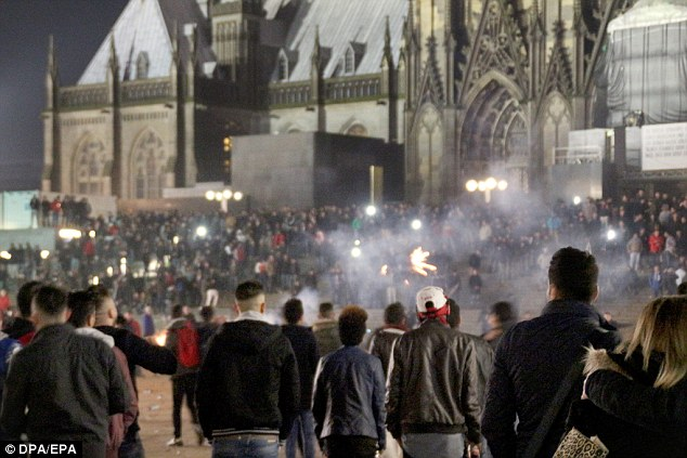 It comes after a rash of sexual assaults in crowds on New Year's Eve in the western city of Cologne (pictured)