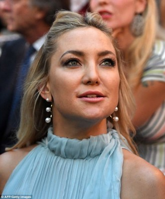 When I'm feeling blue... Kate Hudson once again cemented her status as Hollywood royalty when she attended Fendi's 90th anniversary fashion show in Rome on Thursday
