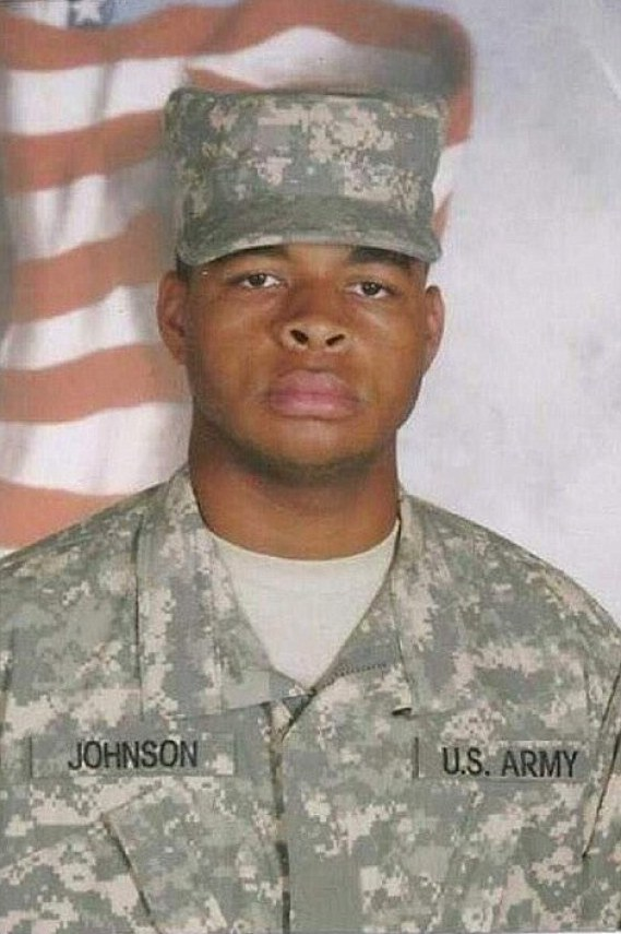 Johnson was a member of the U.S. Army Reserve