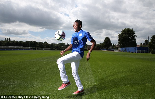 The Nigeria international frontman, 23, has signed a four-year deal with the Premier League champions