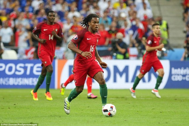 Portugal midfielder Renato Sanches, an 18-year-old sensation, dribbles the ball during the Euro 2016 final between Portugal and France