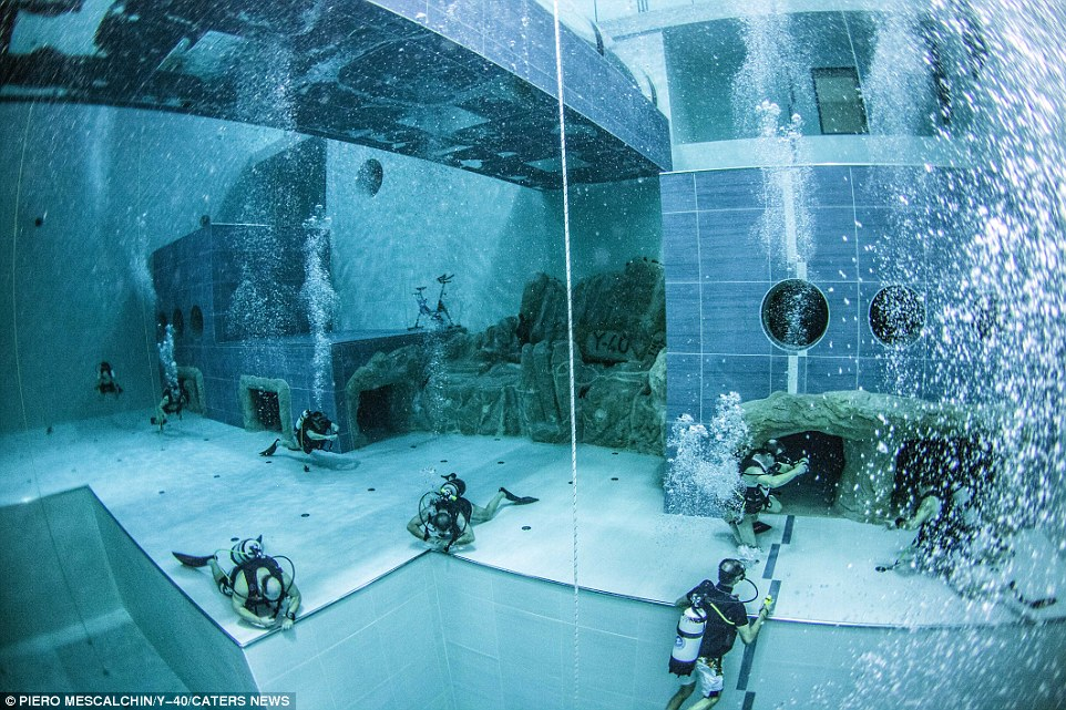 Inside worlds deepest thermal water pool  Daily Mail Online