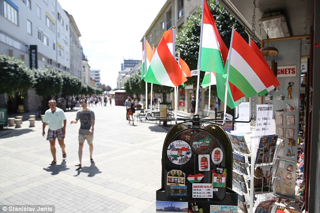 Proud: Most of the population of Hungary are worried the new arrivals under the EU refugee quota scheme would create a clash of cultures in the country