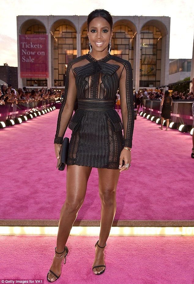 Gorgeous: Kelly Rowland was also in attendance