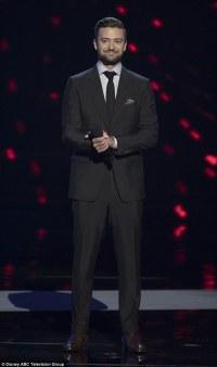 Justin Timberlake looks sharp in dark designer suit at ...