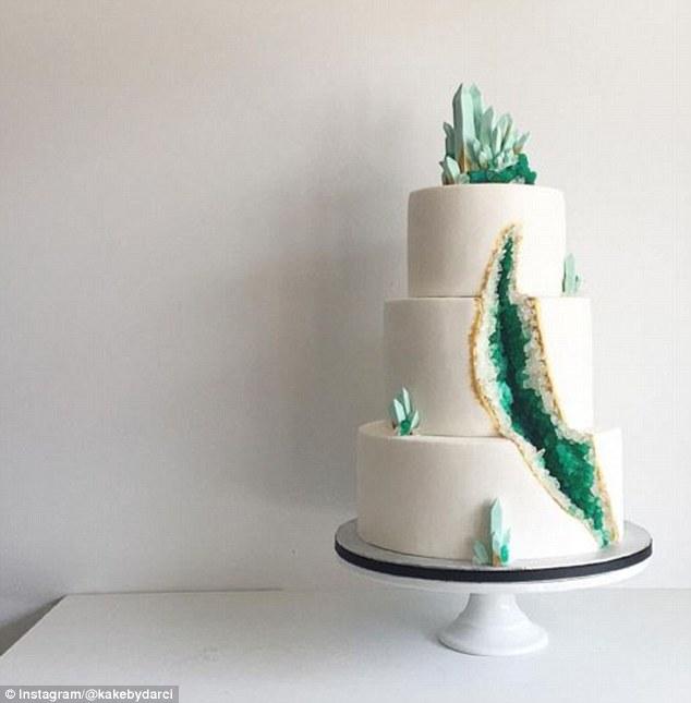 Australian Trend For Crystal Quartz Filled Geode Wedding