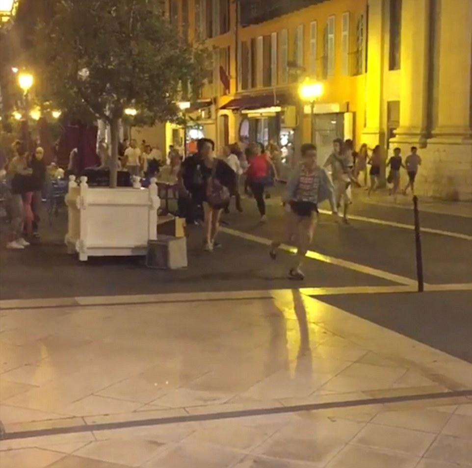 People ran for their lives as the truck ploughed through the group of people in Nice, southern France
