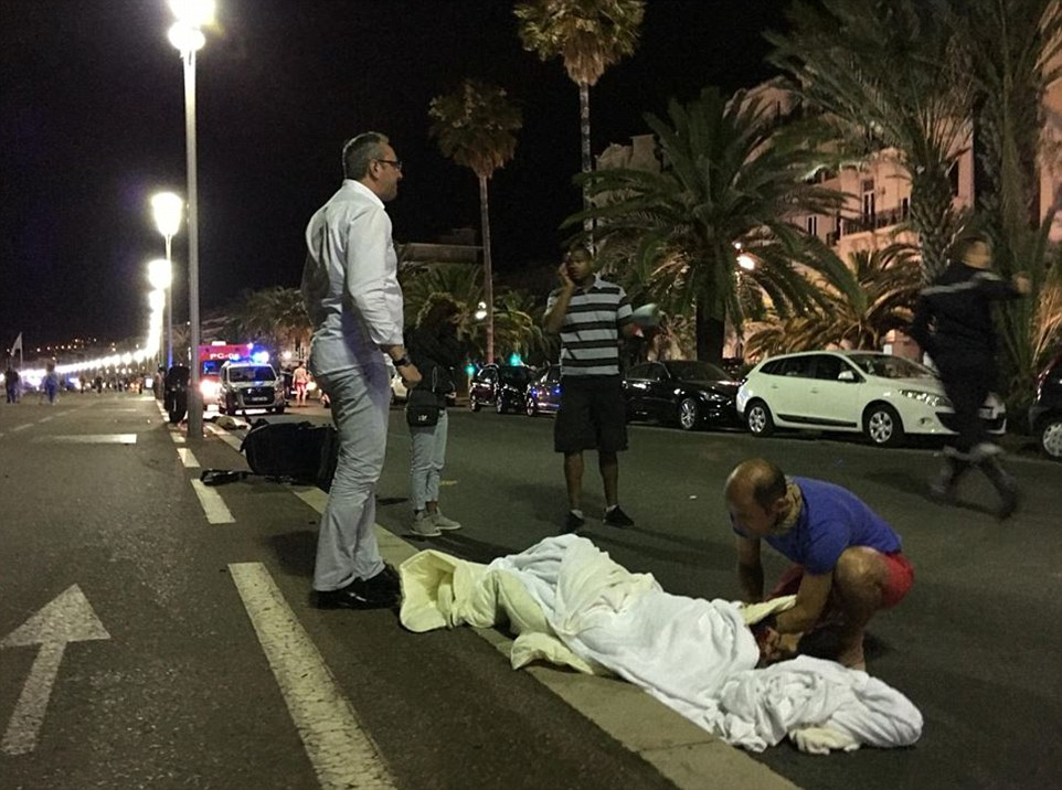 At least 60 people have been killed during a horrific Bastille Day attack in Nice, southern France