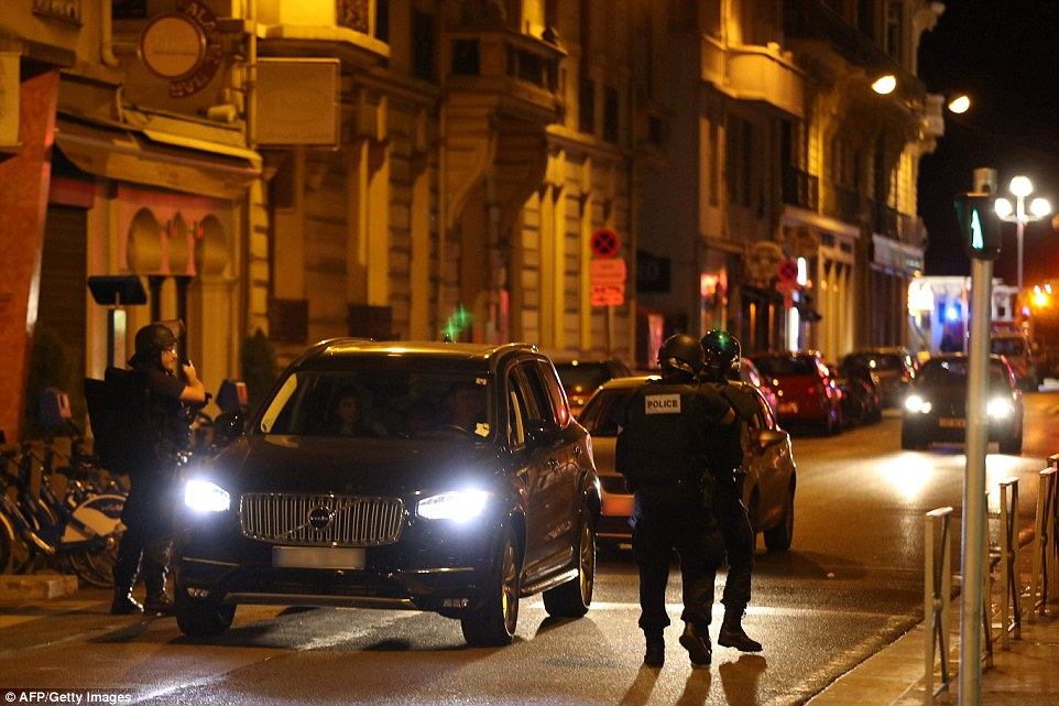 Police have deployed armed checkpoints across the city in an effort to find any suspected attackers