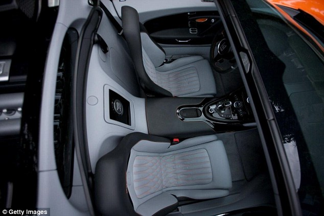 An overview of the interior of a Bugatti Veyron 16.4 Grand Sport, the car bought by Ronaldo, is seen