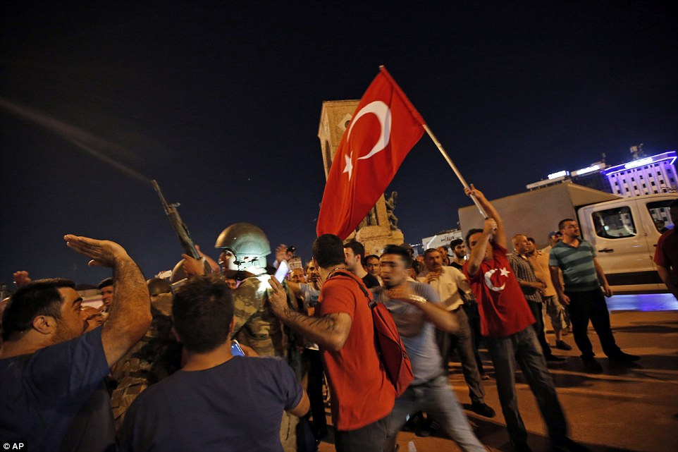 Turkish people appear to have heeded Erdogan's appeal to take to the streets to protest against the military takeover