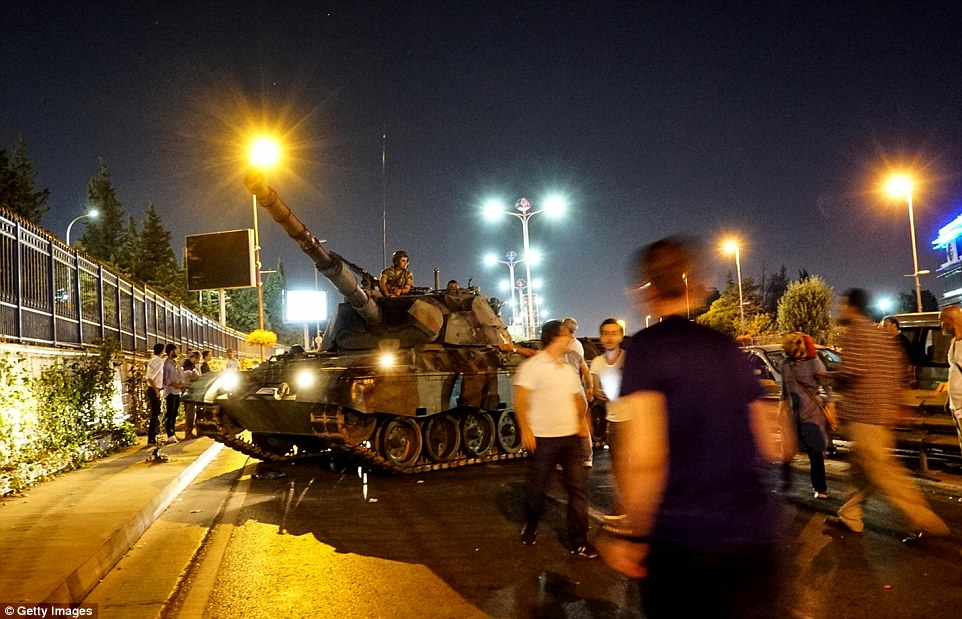 Protesters blocked the tanks from seizing the airport, which allowed President Erdogan to make his triumphant return to Istanbul