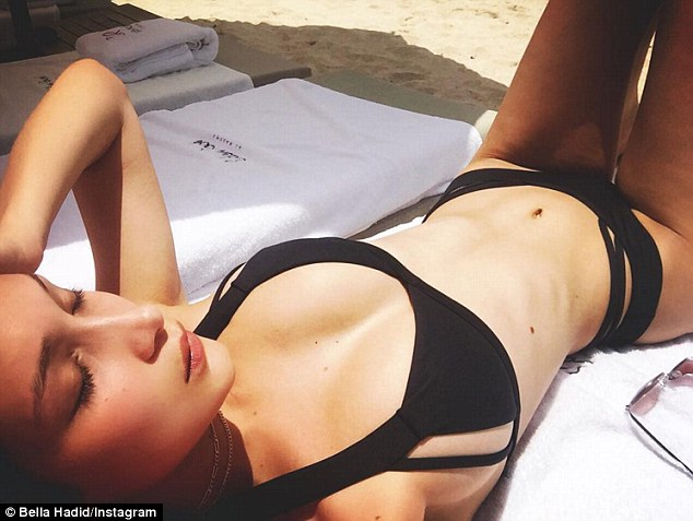 Bella Hadid Offers Close Up Of Her Curves In Bikini During