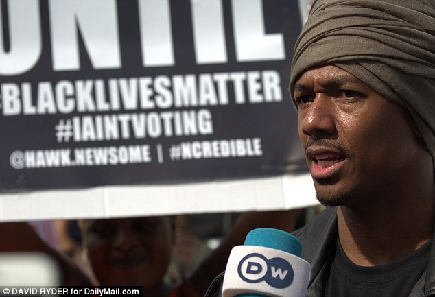 Speaking out: The rapper addressed protesters in Cleveland where he said he wanted to highlight the deaths of black people at the hands of law enforcement