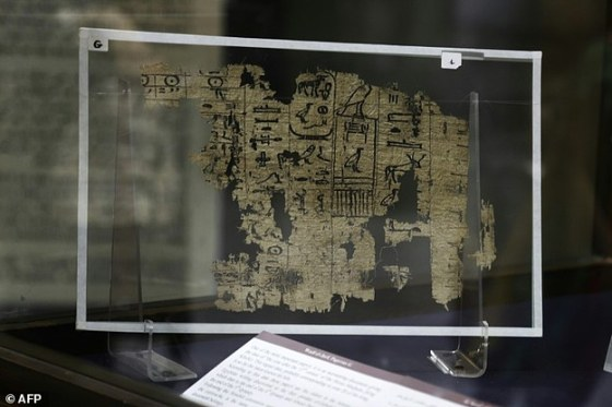 The Egyptian Museum in Cairo on Thursday began putting on display the country's oldest papyruses, which date back 4,500 years, detailing the daily life of the pyramid-builders.