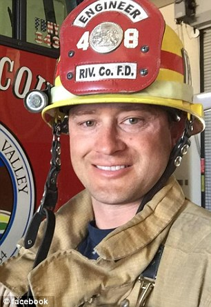 Eric Hille had displayed the pro-police flag on his fire truck and placed a 'Thin Blue Line' sticker on the door, just hours after three Baton Rouge officers were gunned down by a mass shooter on July 17