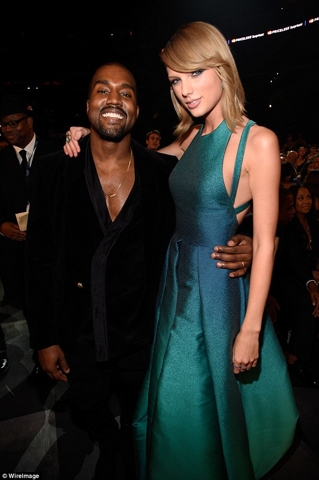 Bad blood: Taylor and Kanye have a rocky past, which turned nuclear when he released his hit Famous, in which he raps about 'making her famous' and refers to her as a 'b***h'