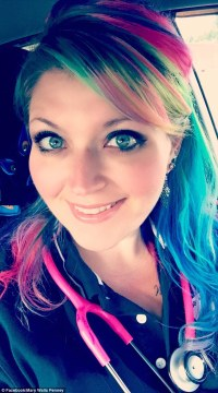 Nurse with rainbow locks took to Facebook after she was ...
