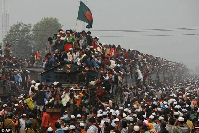 Bangladesh, pictured, is one of the most densely populated areas in the world according to experts