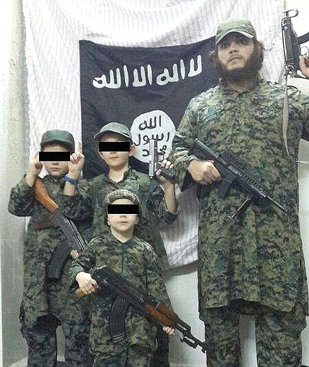 Islamic State fighter Khaled Sharrouf (right) was jailed in Australia before he used his brothers passport to flee to Syria where he became infamous after sharing an image of his young son holding a severed head