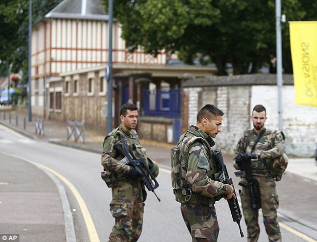 One of the terrorists, a 19-year-old Frenchman who lived close to the church, is said to have left for Syria in 2015 to try and join Islamic State, but he was arrested