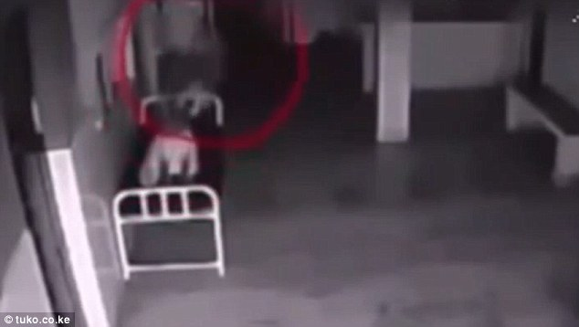 Eerie video shows woman floating out of body after her