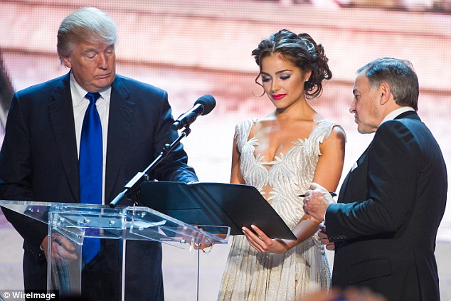 Image result for photos of trump at miss universe contest 2013