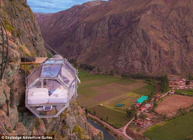 To climb into Natura Vive's Skylodge Adventure Suite in Peru, daredevil guests must scale a 400ft cliff face