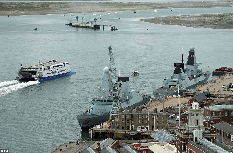 The Mod insisted that the warships being docked was not connected to the need for all six ships to be refitted with new engines