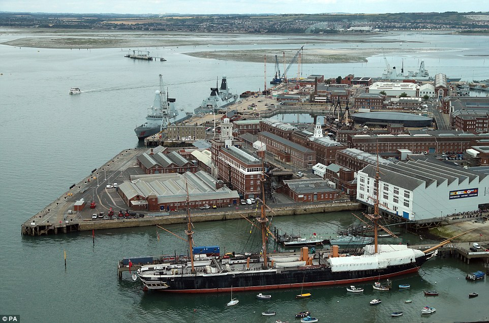 Warships HMS Daring, HMS Dauntless, HMS Diamond, HMS Defender, HMS Dragon and HMS Duncan are all sitting idle in Portsmouth